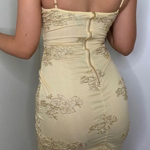 Gorgeous gold-detailing dress